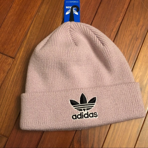 f8cd2ba8 adidas Accessories | Nwt Knit Beanie Hat Lavender Color | Poshmark